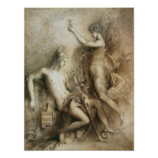Hesiod and the Muse by Gustave Moreau Photo Art