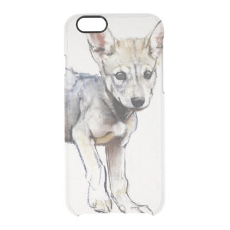 Hesitating Arabian Wolf Pup 2009 Clear iPhone 6/6S Case