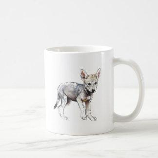 Hesitating Arabian Wolf Pup 2009 Coffee Mug
