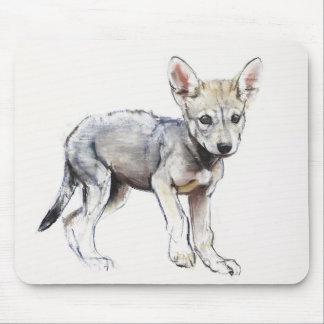 Hesitating Arabian Wolf Pup 2009 Mouse Mat