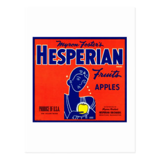 Hesperian Fruits Apples Postcard