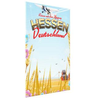 Hessen Deutschland Reiseplakat Canvas Print