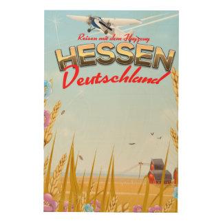 Hessen Deutschland Reiseplakat Wood Wall Art