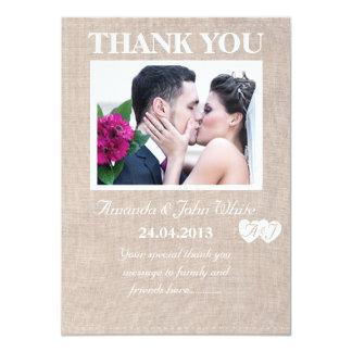 Hessian Wedding Thank You Card