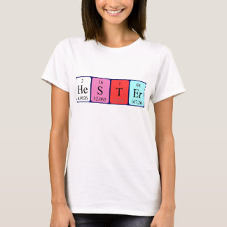 Hester periodic table name shirt