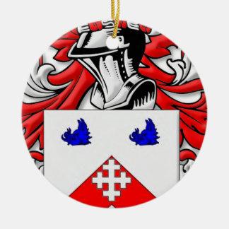 Heston Coat of Arms Christmas Tree Ornament