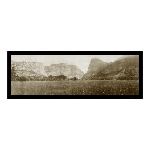 Hetch Hetchy Valley Photo 1911 Poster