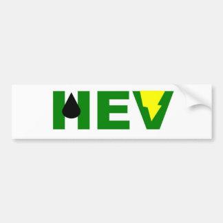 HEV green lightning V Bumper Sticker