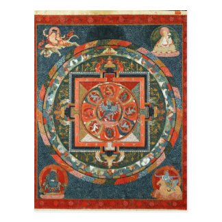 Hevajra Tibetan Buddhist Deity Mandala Postcard