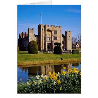 Hever Castle, Kent flowers Card