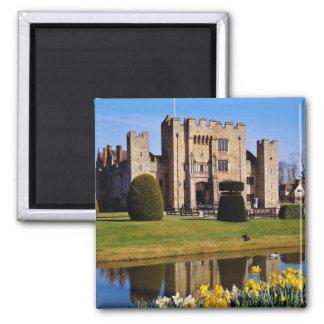 Hever Castle, Kent flowers Square Magnet