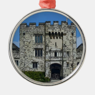 Hever Castle Silver-Colored Round Decoration