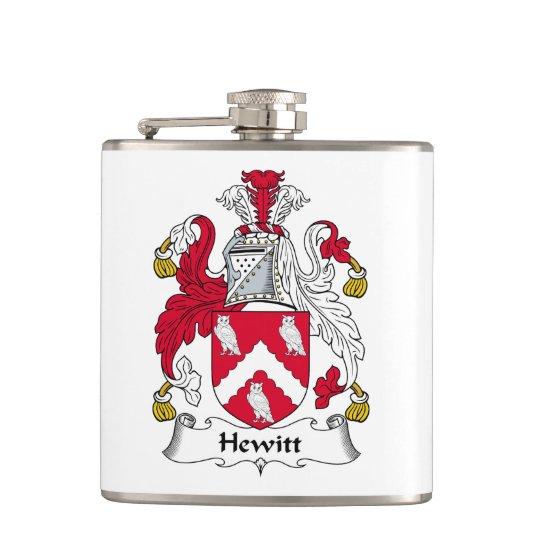 Hewitt Family Crest Hip Flask