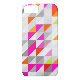 Hex Geometric Neon Abstract Pattern iPhone 7 Case