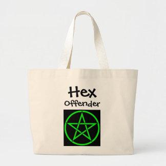 hex offender large tote bag