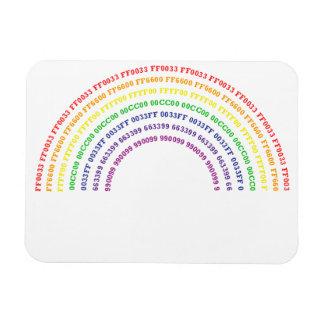 Hex Rainbow Premium Magnet