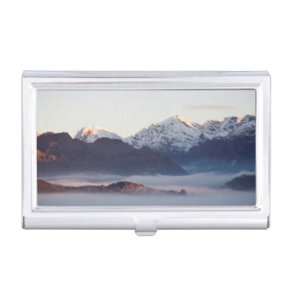 Hex River Mountains At Sunrise, Western Cape Business Card Holder