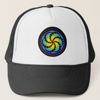 Hex Spiral Crop Circle Trucker Hat