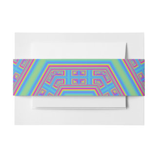 Hexagon abstract pattern invitation belly band