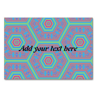 Hexagon abstract pattern table cards