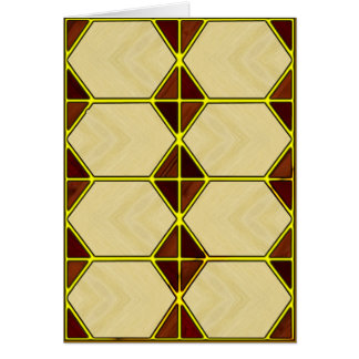 Hexagon Stationery Note Card