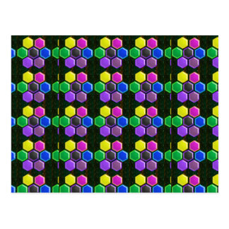 HEXAGON Colorful BUTTONS - COOL LOWPRICE Postcard