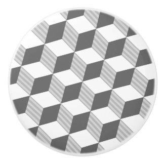 Hexagon Design - Monochrome Grey - Drawer Knob