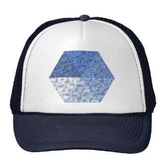 Hexagon from triangles mesh hats