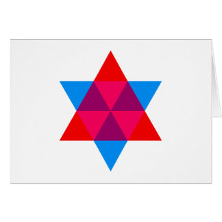 Hexagon hexagon greeting card