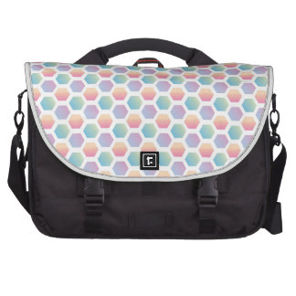 Hexagon Multicolored Pattern Computer Bag