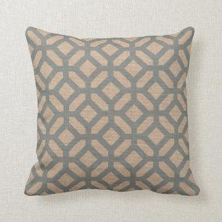 Hexagon Pattern Beach Blue Throw Pillow