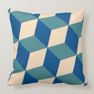 Hexagon Pattern in Blue Cushion