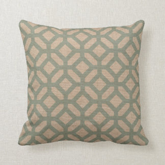 Hexagon Pattern Seafoam Green Cushion