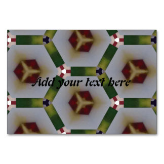Hexagon pattern table cards