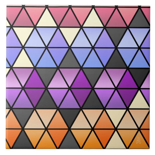 Hexagon Quilt in Lilac, Orchid, Orange + Rose