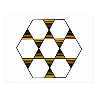 Hexagon Star Gold Postcard