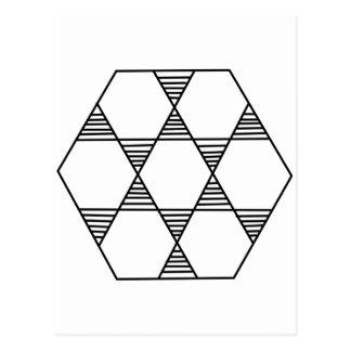 Hexagon Star Postcard