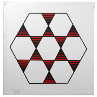 Hexagon Star Red Napkin