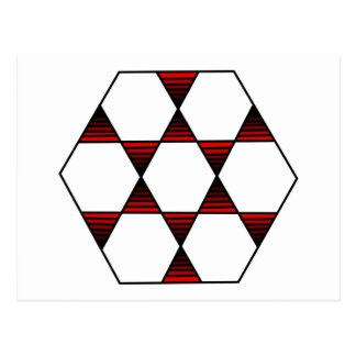 Hexagon Star Red Postcard