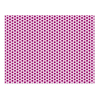Hexagon weave postcard