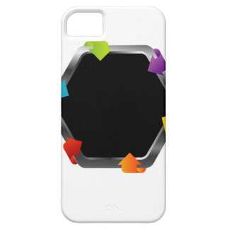 Hexagon with colorful arrows iPhone 5 covers