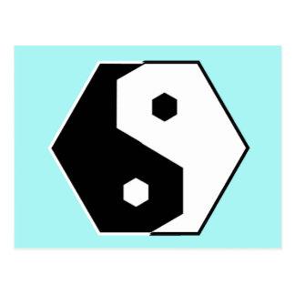 Hexagon Yin Yang Postcard