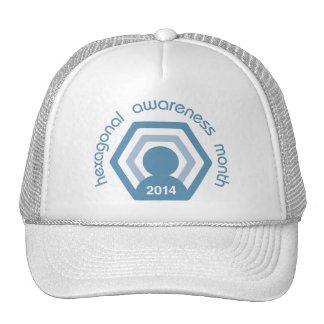 Hexagonal Awareness Month round hat