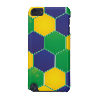 Hexagonal Brazil Design iPod Touch (5th Generation) Cases
