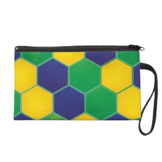 Hexagonal Brazil Design Wristlets
