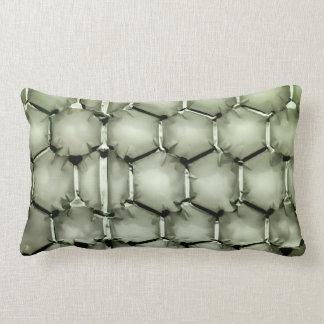 Hexagonal bubble texture background green lumbar pillow