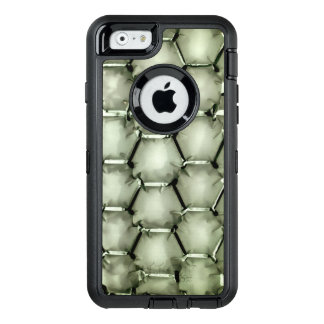 Hexagonal bubble texture background in light green OtterBox iPhone 6/6s case