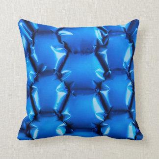 Hexagonal bubble texture background throw pillow
