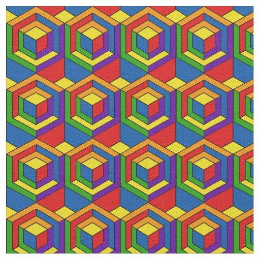 Hexagonal Puzzle - Pop Art Fabric