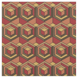 Hexagonal Puzzle - Sunset Fabric